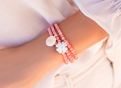Bransoletki perły i koraliki