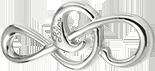 Klucz wiolinowy duży srebrny