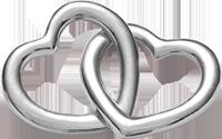 Accroche-coeur duże srebrne