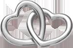 Accroche-coeur małe srebrne