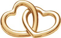 Accroche-coeur duże pozłacane