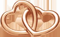 Accroche-coeur duże pozłocenie różowe