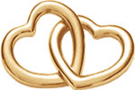 Accroche-coeur małe pozłacane