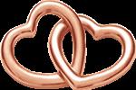 Accroche-coeur małe pozłocenie różowe