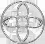 Lilijka w kole ażur na rękę srebrna