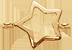 gwiazdka AZUR 1 cm pozłacana