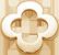 koniczynka okrągła AZUR 1 cm złota