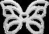 AZUR motyl mini srebrny