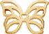 AZUR motyl mini pozłacany