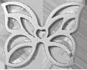 AZUR motyl 2 cm srebrny