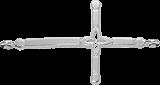 krzyż (lilijka) na rękę srebrna