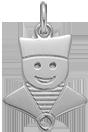 Marynarz srebrny 2 cm