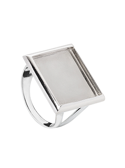 Pierścionek prostokąt srebrny