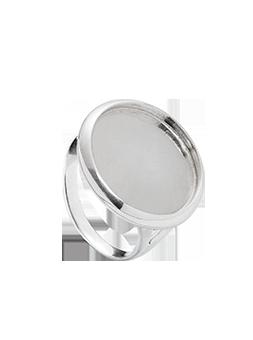 Pierścionek koło 18 mm srebrny