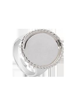 Pierścionek kryształ koło rama TWIST srebrna