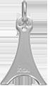 wieża Eiffla srebrna 2 cm