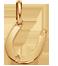 podkowa 1 cm złoto próby 585