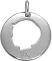 medalion chłopiec 2 cm srebrny
