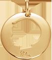 medalion chłopiec 2 cm pozłacany