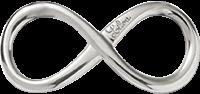 Nieskończoność duża 4 cm srebrna