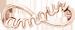 nieskończoność AMOUR 1 cm, różowe pozłocenie