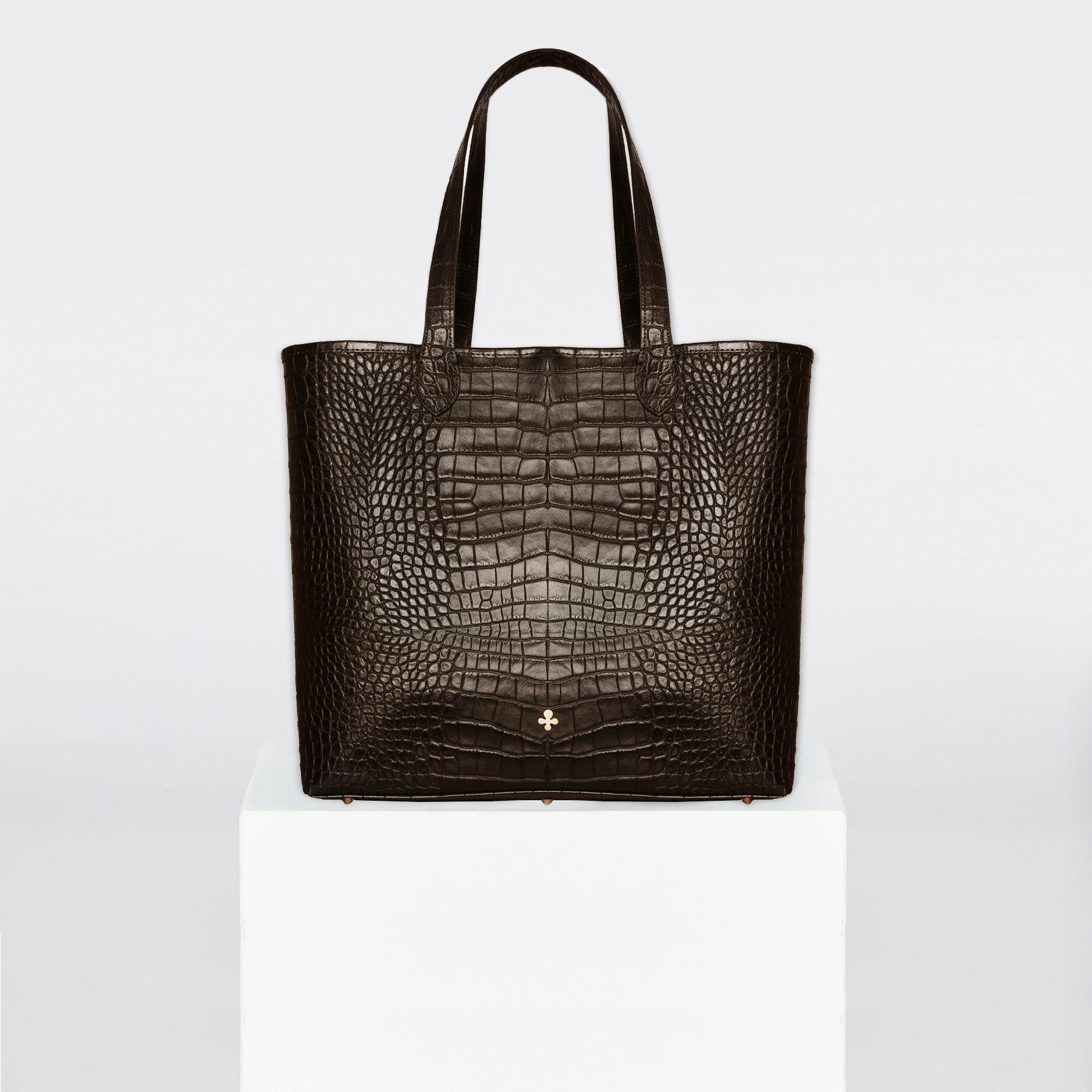 Shopper, brązowy krokodyl