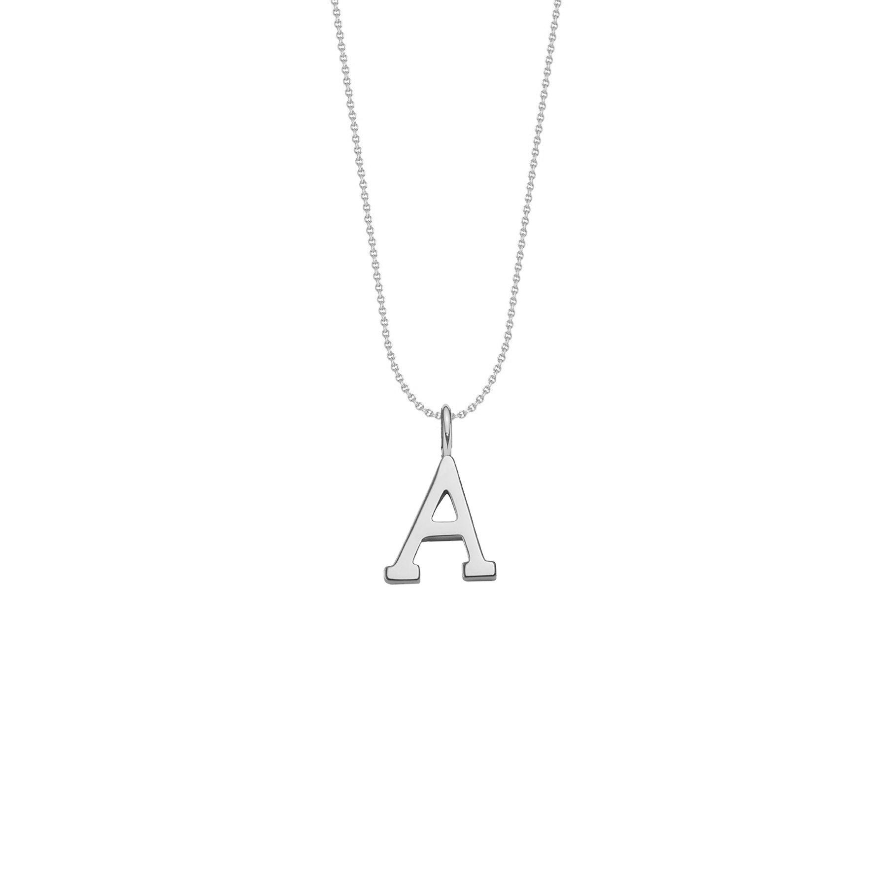 Naszyjnik z posrebrzaną literką A na łańcuszku nitka