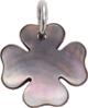 koniczynka z ciemnej masy perłowej 1,5 cm SR