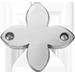 lilijka płaska srebrna