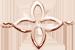 lilijka AZUR 1 cm, różowe pozłocenie