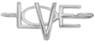 model LOVE srebrny