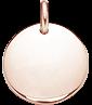medalik 1,5 cm, różowe pozłocenie