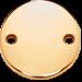 medalik płaski pozłacany