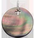 medalik z ciemnej masy perłowej 2 cm SR