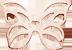 motylek mini ażur, różowe pozłocenie