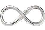 Nieskończoność srebrna 2,5 cm