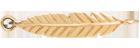 pióro płaskie złote