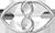 połączone serca z znakiem nieskończoności 1 cm srebrne