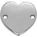 serce płaskie srebrne