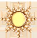 Zawieszka Sun z cytrynem 3 cm pozłacana