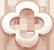 Zawieszka płaska koniczynka okrągła AZUR 1 cm różowe pozłocenie