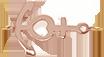 Zawieszka płaska kotwica 1,5 cm różowe pozłocenie