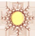 Zawieszka Sun z cytrynem 3 cm, różowe pozłocenie