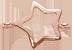 Zawieszka płaska gwiazdka ażur 1 cm różowe pozłocenie